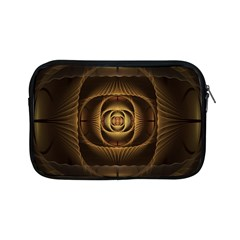 Fractal Copper Amber Abstract Apple Ipad Mini Zipper Cases by Celenk