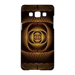 Fractal Copper Amber Abstract Samsung Galaxy A5 Hardshell Case  by Celenk