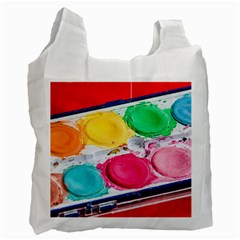 Palette Brush Paint Box Color Recycle Bag (one Side) by Celenk