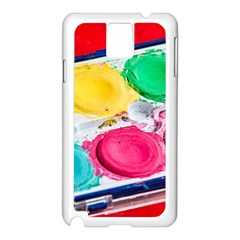 Palette Brush Paint Box Color Samsung Galaxy Note 3 N9005 Case (white) by Celenk