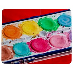 Palette Brush Paint Box Color Jigsaw Puzzle Photo Stand (rectangular) by Celenk