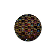 Kaleidoscope Pattern Abstract Art Golf Ball Marker (4 Pack) by Celenk