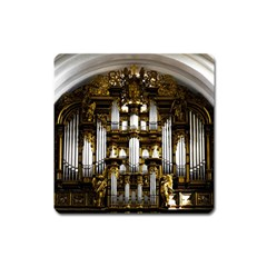 Organ Church Music Organ Whistle Square Magnet by Celenk