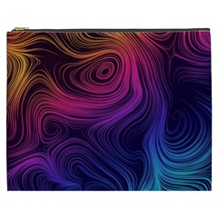 Abstract Pattern Art Wallpaper Cosmetic Bag (xxxl)  by Celenk