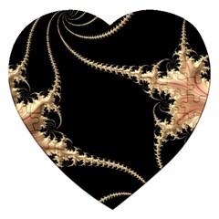 Fractal Art Design Pattern Texture Jigsaw Puzzle (heart) by Celenk