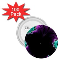 Fractals Spirals Black Colorful 1 75  Buttons (100 Pack)  by Celenk