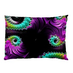 Fractals Spirals Black Colorful Pillow Case (two Sides)