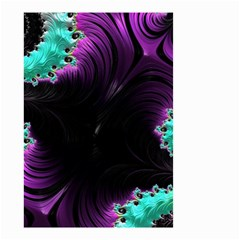 Fractals Spirals Black Colorful Small Garden Flag (two Sides) by Celenk