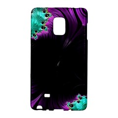Fractals Spirals Black Colorful Galaxy Note Edge by Celenk