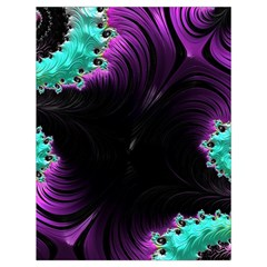 Fractals Spirals Black Colorful Drawstring Bag (large) by Celenk