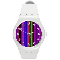Abstract Background Pattern Textile 4 Round Plastic Sport Watch (m)