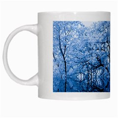 Nature Inspiration Trees Blue White Mugs by Celenk