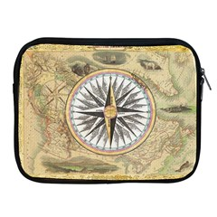Map Vintage Nautical Collage Apple Ipad 2/3/4 Zipper Cases by Celenk