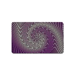 Graphic Abstract Lines Wave Art Magnet (name Card) by Celenk