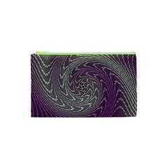 Graphic Abstract Lines Wave Art Cosmetic Bag (xs) by Celenk