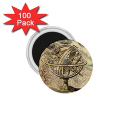Map Compass Nautical Vintage 1 75  Magnets (100 Pack)  by Celenk