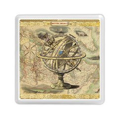 Map Compass Nautical Vintage Memory Card Reader (square)  by Celenk