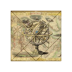 Map Compass Nautical Vintage Acrylic Tangram Puzzle (4  X 4 ) by Celenk