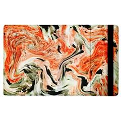 Marble Texture White Pattern Apple Ipad 2 Flip Case
