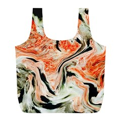 Marble Texture White Pattern Full Print Recycle Bags (l)  by Celenk