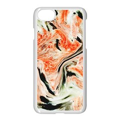 Marble Texture White Pattern Apple Iphone 7 Seamless Case (white) by Celenk