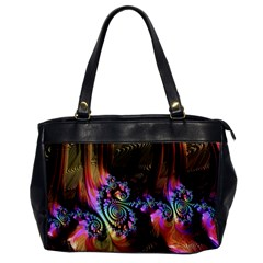 Fractal Colorful Background Office Handbags by Celenk