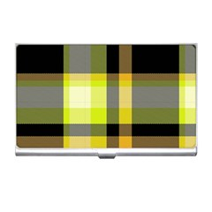 Tartan Abstract Background Pattern Textile 5 Business Card Holders by Celenk