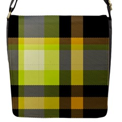 Tartan Abstract Background Pattern Textile 5 Flap Messenger Bag (s) by Celenk