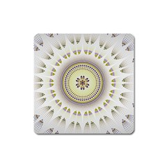 Mandala Fractal Decorative Square Magnet by Celenk
