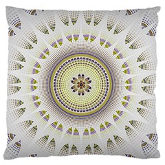 Mandala Fractal Decorative Large Flano Cushion Case (two Sides) by Celenk