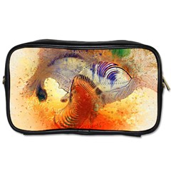 Dirty Dirt Image Spiral Wave Toiletries Bags by Celenk