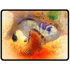 Dirty Dirt Image Spiral Wave Fleece Blanket (large)  by Celenk