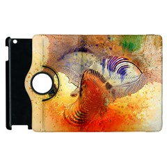 Dirty Dirt Image Spiral Wave Apple Ipad 3/4 Flip 360 Case by Celenk