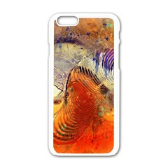 Dirty Dirt Image Spiral Wave Apple Iphone 6/6s White Enamel Case by Celenk