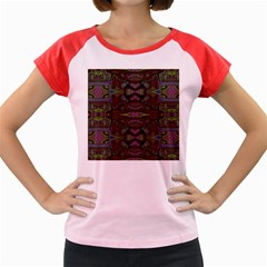 Pattern Abstract Art Decoration Women s Cap Sleeve T Shirt by Celenk