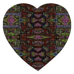 Pattern Abstract Art Decoration Jigsaw Puzzle (heart) by Celenk