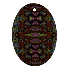 Pattern Abstract Art Decoration Oval Ornament (two Sides) by Celenk