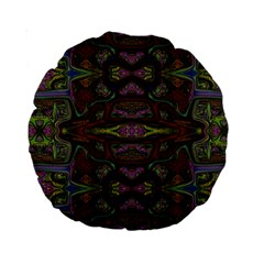 Pattern Abstract Art Decoration Standard 15  Premium Round Cushions by Celenk
