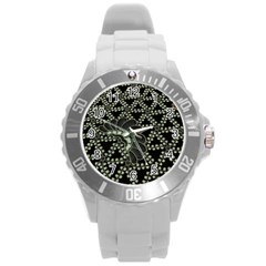 Batik Traditional Heritage Indonesia Round Plastic Sport Watch (l) by Celenk