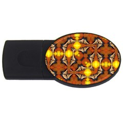 Dancing Butterfly Kaleidoscope Usb Flash Drive Oval (2 Gb) by Celenk