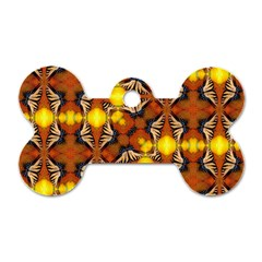 Dancing Butterfly Kaleidoscope Dog Tag Bone (two Sides) by Celenk
