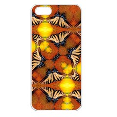 Dancing Butterfly Kaleidoscope Apple Iphone 5 Seamless Case (white) by Celenk