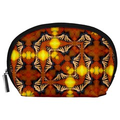 Dancing Butterfly Kaleidoscope Accessory Pouches (large)  by Celenk