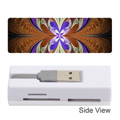Fractal Splits Silver Gold Memory Card Reader (stick)  by Celenk
