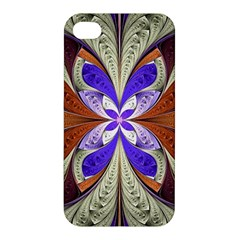 Fractal Splits Silver Gold Apple Iphone 4/4s Hardshell Case by Celenk