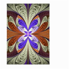Fractal Splits Silver Gold Large Garden Flag (two Sides) by Celenk