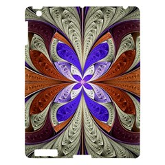 Fractal Splits Silver Gold Apple Ipad 3/4 Hardshell Case by Celenk