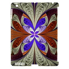 Fractal Splits Silver Gold Apple Ipad 3/4 Hardshell Case (compatible With Smart Cover) by Celenk