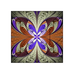 Fractal Splits Silver Gold Acrylic Tangram Puzzle (4  X 4 ) by Celenk