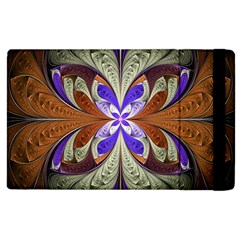 Fractal Splits Silver Gold Apple Ipad 2 Flip Case by Celenk